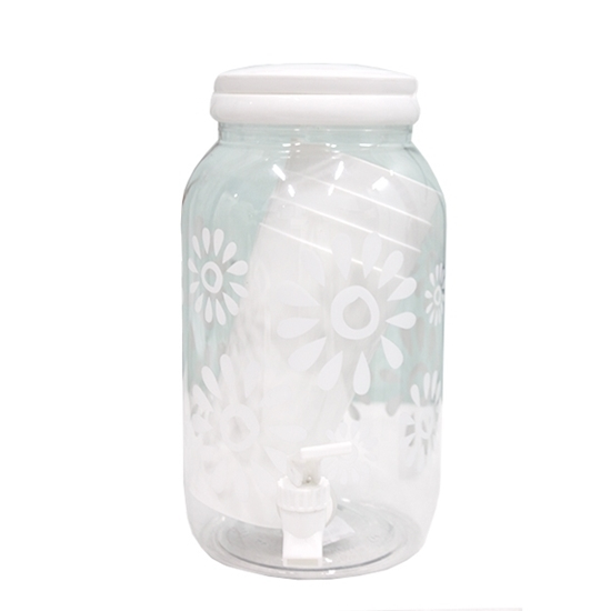 صورة Plastic Beverage Dispenser, (1 Jar, 4 Cups) - 27 x 13 Cm