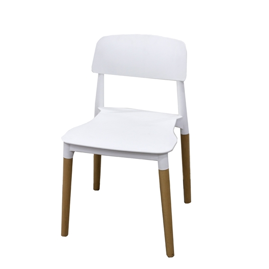 Picture of Lasky Plastic Dining Chair in White - 76 x 42 x 44 Cm