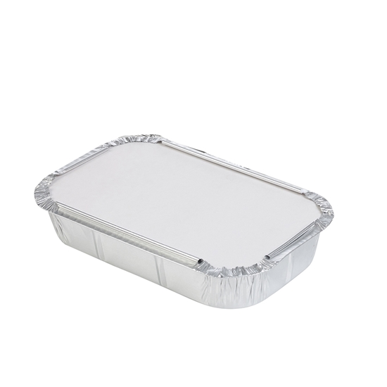 صورة ALUMINIUM DISPOSABLE CONTAINER WITH LID 26x19.5x6cm