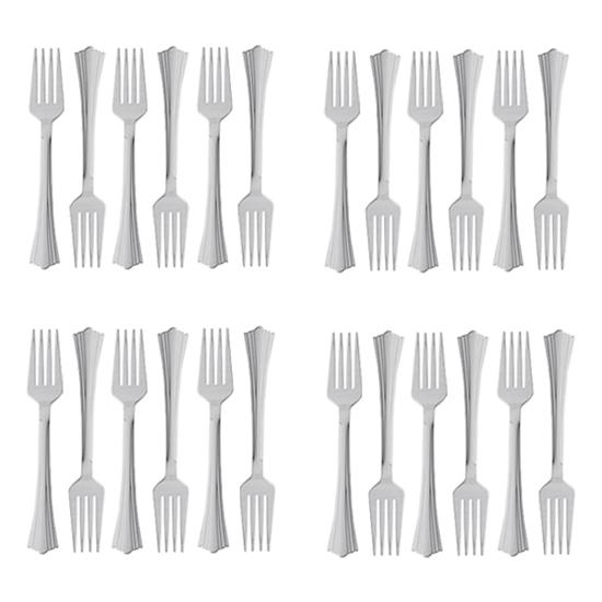 Picture of Plastic Forks , 24 PCs - 17 Cm