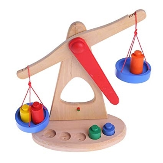 Picture of Balance Scale Toy with 6 Weights - 23 x 22 cm
