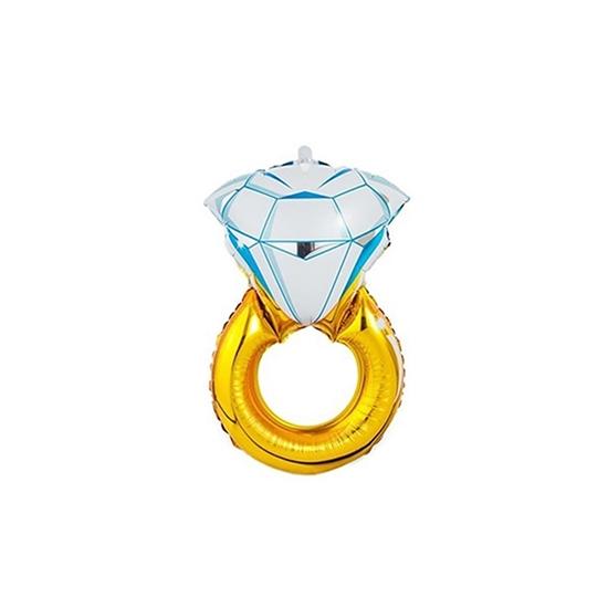 صورة Diamond Engagement RING Bridal Shower Wedding Foil Balloon 54 x 84 CM