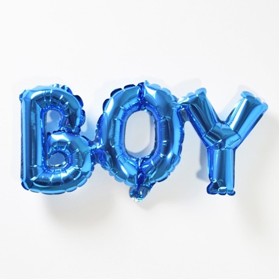 Picture of BOY Letter Balloons, 32 x 84 cm One-piece Alphabet Baby Foil Balloons for Baby Birthday Party Decorations