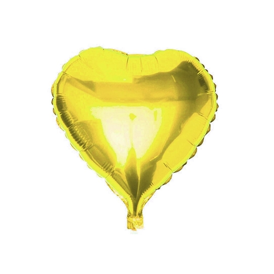Picture of Yellow Heart Shape Helium Balloon - 45.72 Cm