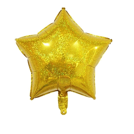 Picture of Glittery Star Shape Helium Balloon - 45.72 Cm