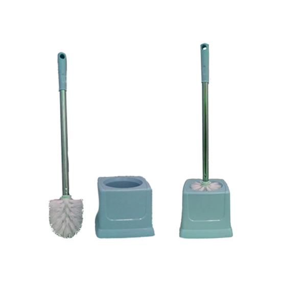 صورة Toilet brush bathroom - Toilet brush plastic Toilet Brush Set thickening Belt base toilet cleaning brush floor toilet brush 50 x 14 CM
