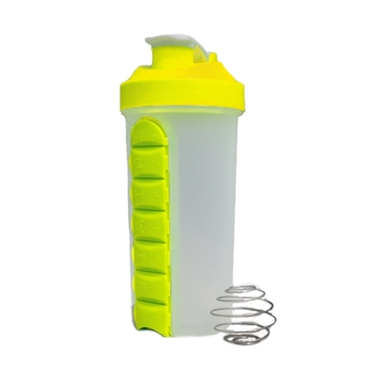 Picture of Pill & Vitamin Organizer Water Bottle - 20 x 10 Cm