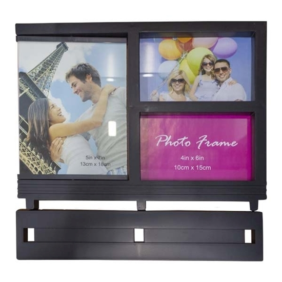 Picture of Black - Collage frame for 3 photos - 23 x 30 Cm