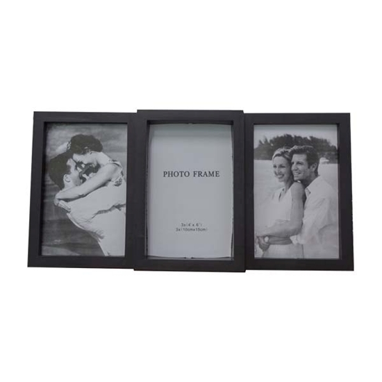 Picture of Black - Collage Frame for 3 Photos - 34 x 17.5 Cm