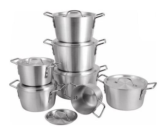 صورة 7pcs/set Thick Aluminum pot set multi-purpose pot soup pot cookware set panela cooking tool