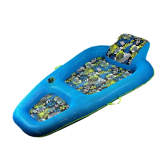 Picture of Aqua Luxury Water Lounge, X-Large, Inflatable Pool Float with Headrest/Backrest & Footrest, Navy