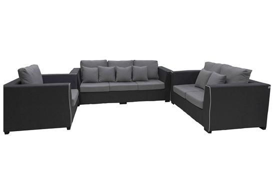 Picture of DARK GREY THREE SEATS - 210 x 90 x 85 Cm + TWO SEATS - 160 x 90 x 85 Cm + ARM CHAIR - 110 x 90 x 85 Cm