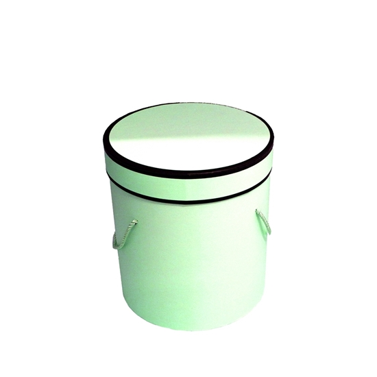 Picture of Green Cylinder Gift Box - 18 x 17 Cm