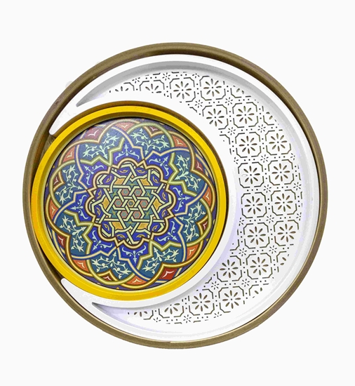 Picture of Ramadan Wooden Tray - 40 Cm
