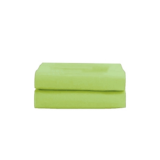 Picture of Queen - Cotton & Polyester Light Green Flat Sheet - 210 x 265 Cm