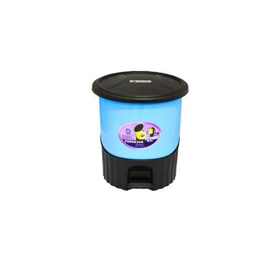 صورة سلة مهملات  بدواسة من البلاستيك - قياس 24 × 21 سم
