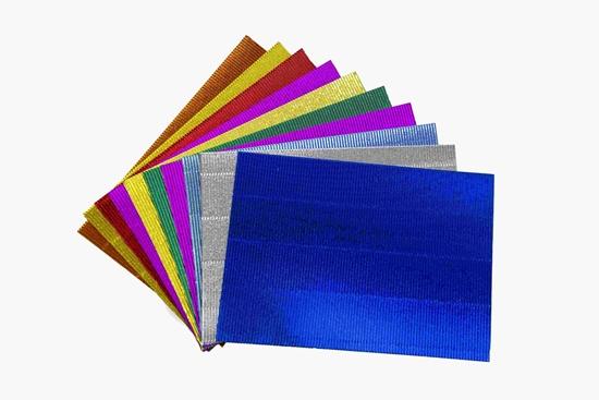 صورة ورق الحرف الكرتون المموج, 10 قطع - 29 × 21 سم