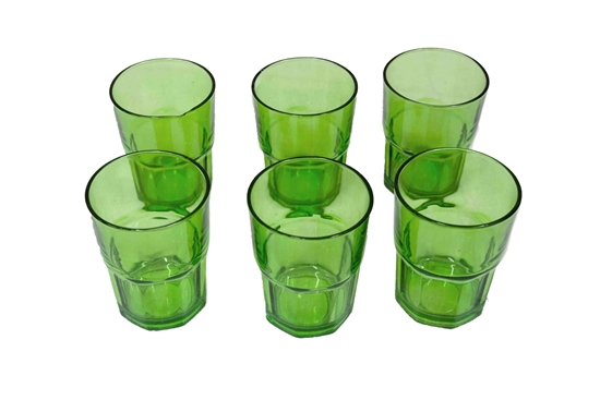Picture of COLORED WATER CUP 6PCS/SET - 10 x 7.5 Cm