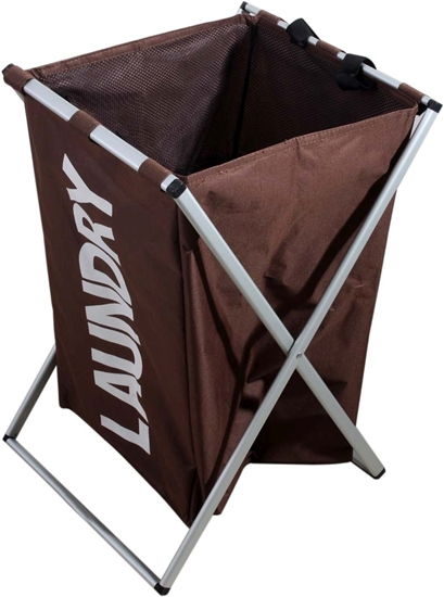 Picture of Folding Laundry Basket with Stand - 43 x 34 x 55 Cm