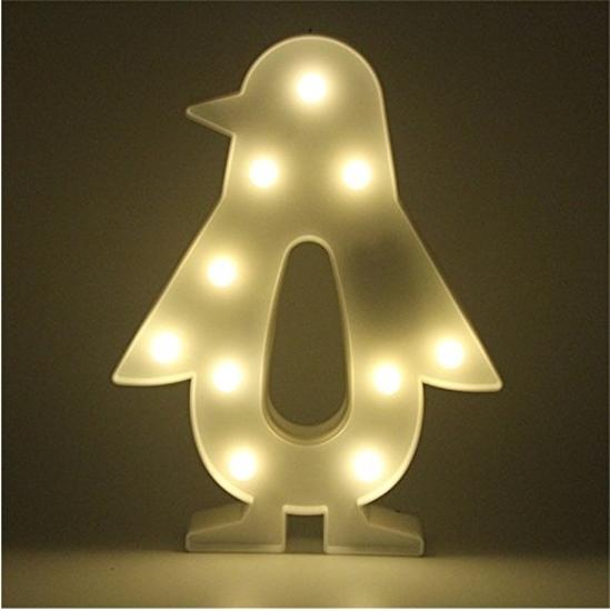 صورة ضوء ديكورعلى شكل البطريق - 26.5 × 20 سم