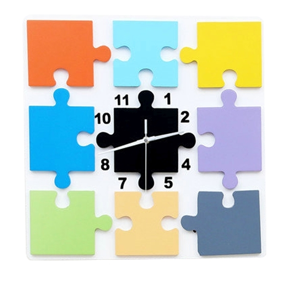 Picture of Square Puzzle Creative Clock - 40 Cm