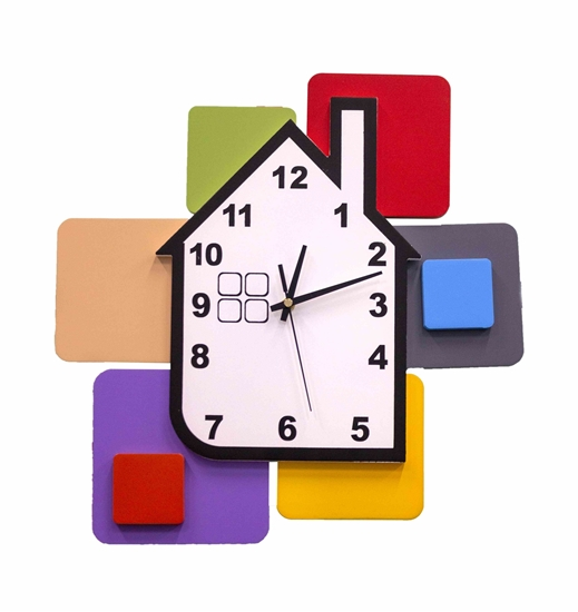 Picture of House Wall Clock - 39 x 39 Cm