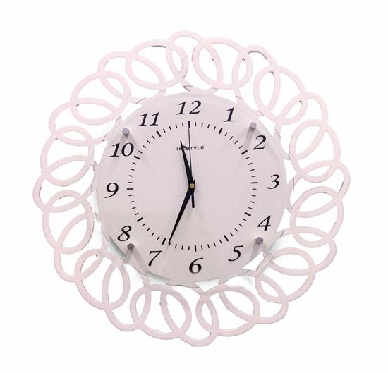 Picture of White Decorative Wall Clock - 49 Cm