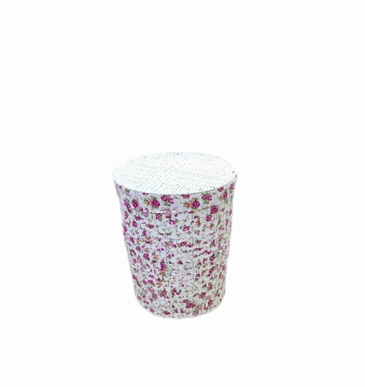 Picture of Floral Laundry Basket with Cover - 51 x 42 Cm