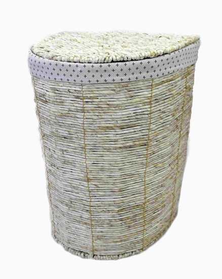 Picture of Large Beige Basket - 43 x 34 x 57 Cm