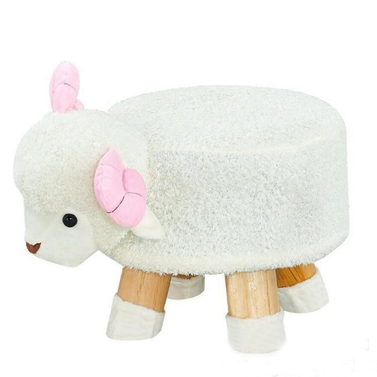 Picture of Children's Stool Solid Wood Sheep Shape - 28 x 32 Cm