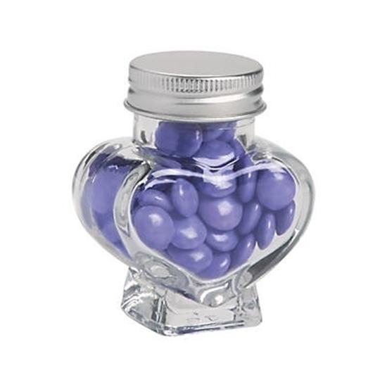 صورة Mini Heart-Shaped Jar - 8.5 x 6 Cm