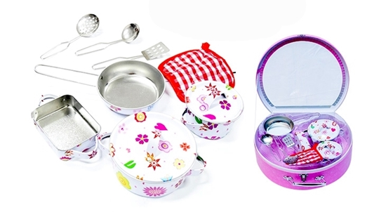 Picture of 10 PCs Stainless Steel Cookware Playset