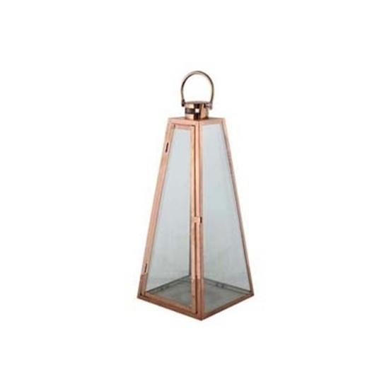 Picture of Bronze - Metal & Glass Lantern - 60 x 23 Cm
