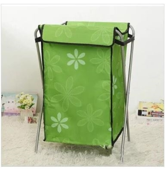 Picture of Folding Laundry Basket with Stand - 35 x 28 x 56 Cm