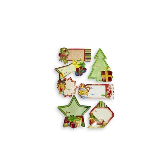 Picture of Christmas Gift Tag Stickers