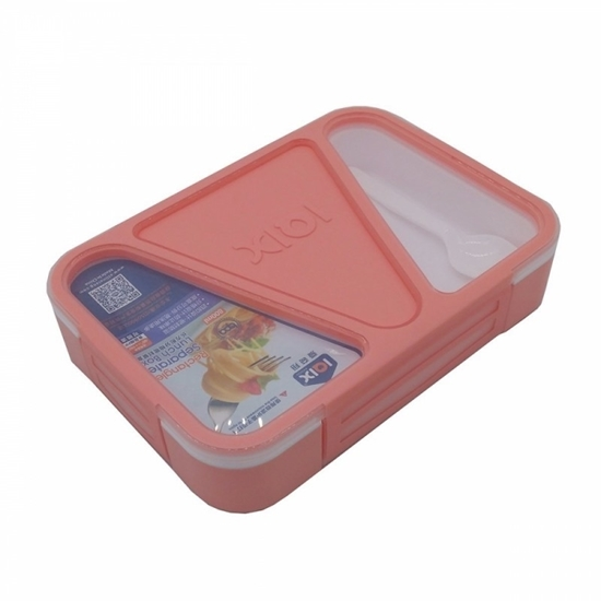 Picture of Leak Proof 3 Compartment Rectangular Shape Lunch Box - 24 x 17 x 5 Cm