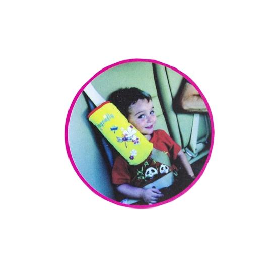 صورة وسادة حزام السيارة للأطفال - 28 × 7 × 12 سم
