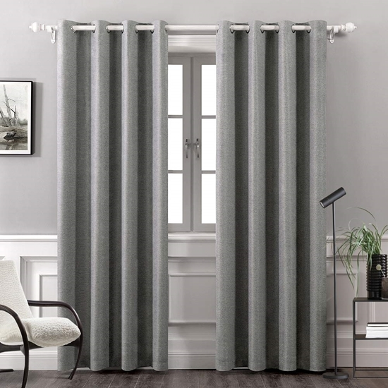 Picture of Grey - Living Room Curtain 2 Panels - 140 x 280 Cm