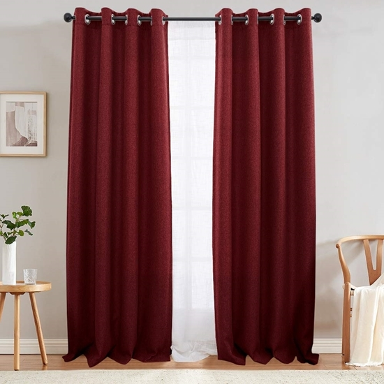Picture of Red - Living Room Curtain 2 Panels - 140 x 280 Cm