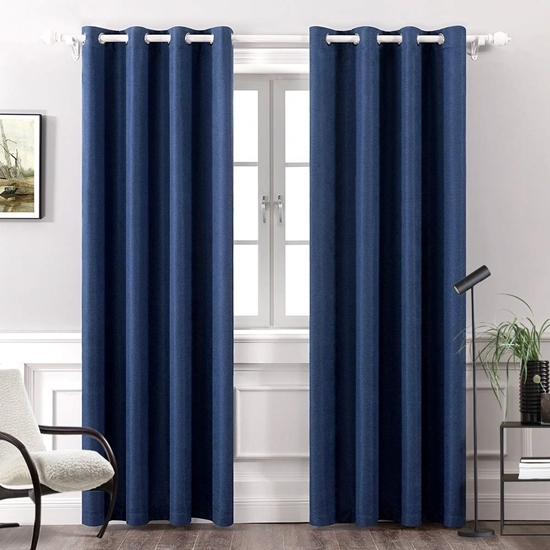 Picture of Dark Blue - Living Room Curtain 2 Panels - 140 x 280 Cm