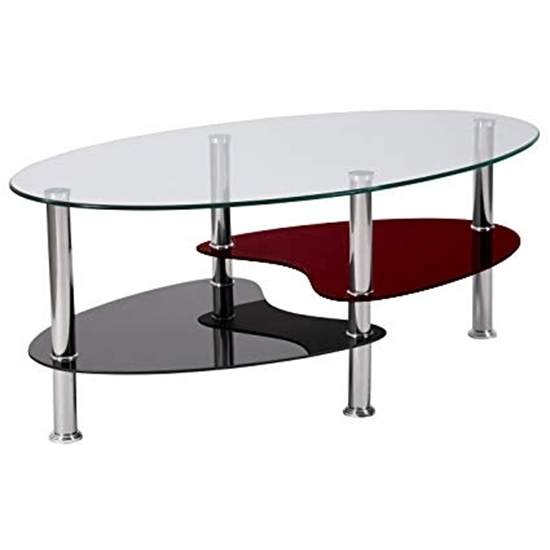 Picture of Glass Coffee Table - 103 x 55 x 43
