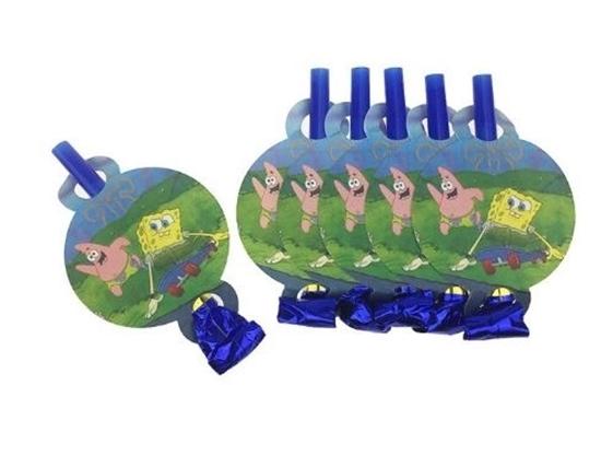 Picture of Blow Outs SPONGEBOB 10 PCS - 25 Cm