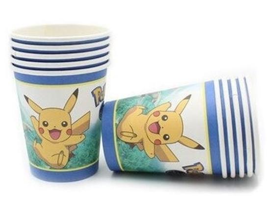 صورة Paper Cup POKEMON 10 PCs - 8.2 x 7.2 Cm