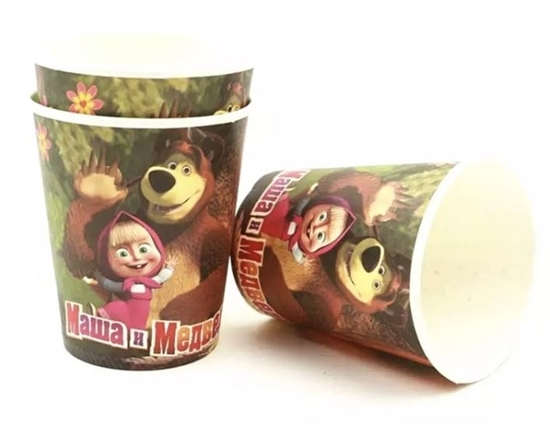 Picture of Paper Cup MASHA AND THE BEAR 10 PCs - 8.2 x 7.2 Cm