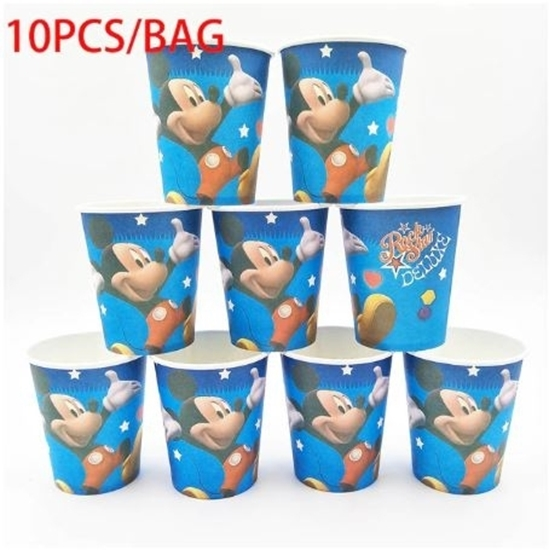 Picture of Paper Cup MICKEY 10 PCs - 8.2 x 7.2 Cm