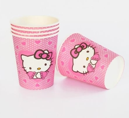 Picture of Paper Cup HELLO KITTY 10 PCs - 8.2 x 7.2 Cm