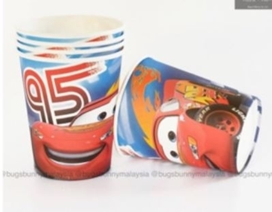 Picture of Paper Cup MCQUEEN CAR 10 PCs - 8.2 x 7.2 Cm
