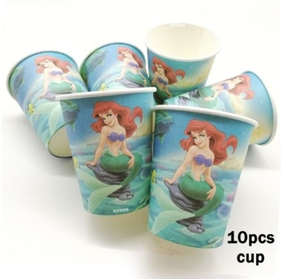 Picture of Paper Cup MERMAID 10 PCs - 8.2 x 7.2 Cm