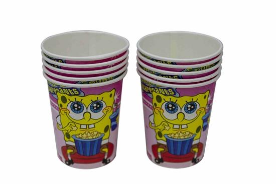 Picture of Paper Cup SPONGEBOB 10 PCs - 8.2 x 7.2 Cm
