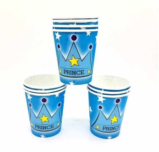 Picture of Paper Cup PRINCE CROWN 10 PCs - 8.2 x 7.2 Cm